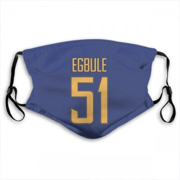 Los Angeles Chargers Emeke Egbule Royal Jersey Name & Number Face Mask