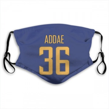 Los Angeles Chargers Jahleel Addae Royal Jersey Name & Number Face Mask