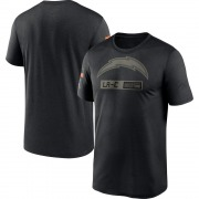 Men's Nike Los Angeles Chargers Black 2020 Salute to Service Team Logo Performance T-Shirt -