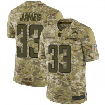 Men's Nike Los Angeles Chargers Derwin James Camo 2018 Salute to Service Jersey - Limited