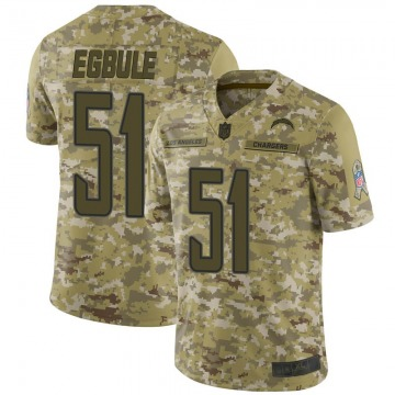 Men's Los Angeles Chargers Emeke Egbule Camo 2018 Salute to Service Jersey - Limited