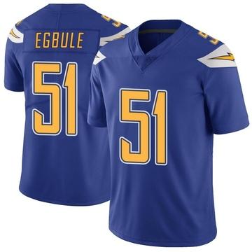 Men's Los Angeles Chargers Emeke Egbule Royal Color Rush Vapor Untouchable Jersey - Limited