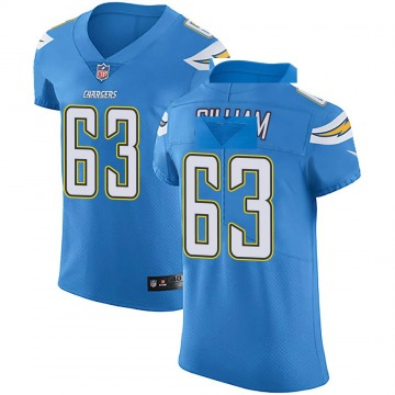 Men's Nike Los Angeles Chargers Nathan Gilliam Blue Alternate Vapor Untouchable Jersey - Elite