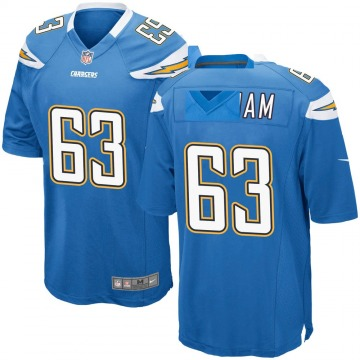Men's Nike Los Angeles Chargers Nathan Gilliam Blue Powder Alternate Jersey - Game