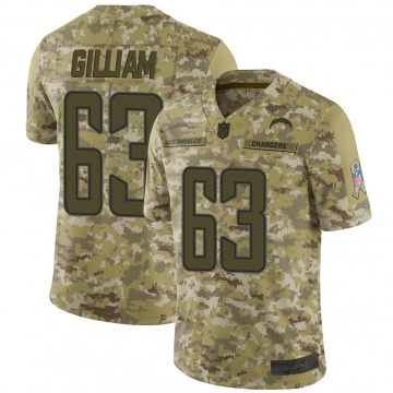 Men's Nike Los Angeles Chargers Nathan Gilliam Camo 2018 Salute to Service Jersey - Limited