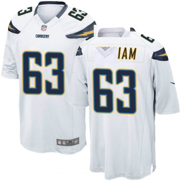 Men's Nike Los Angeles Chargers Nathan Gilliam White Jersey - Game