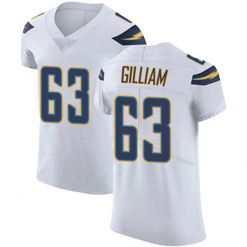 Men's Nike Los Angeles Chargers Nathan Gilliam White Vapor Untouchable Jersey - Elite