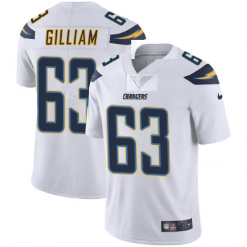 Men's Nike Los Angeles Chargers Nathan Gilliam White Vapor Untouchable Jersey - Limited