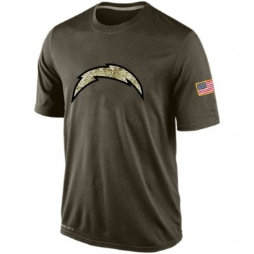 Men's Nike Los Angeles Chargers Olive Salute To Service KO Performance Dri-FIT T-Shirt -