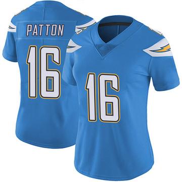 Women's Nike Los Angeles Chargers Andre Patton Blue Powder Vapor Untouchable Alternate Jersey - Limited