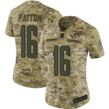 Women's Nike Los Angeles Chargers Andre Patton Camo 2018 Salute to Service Jersey - Limited