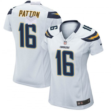Women's Nike Los Angeles Chargers Andre Patton White Jersey - Game