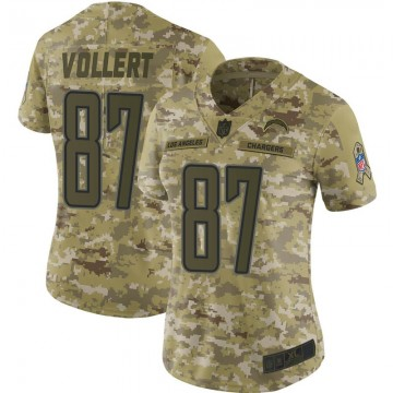 Women's Nike Los Angeles Chargers Andrew Vollert Camo 2018 Salute to Service Jersey - Limited