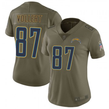 Women's Nike Los Angeles Chargers Andrew Vollert Green 2017 Salute to Service Jersey - Limited