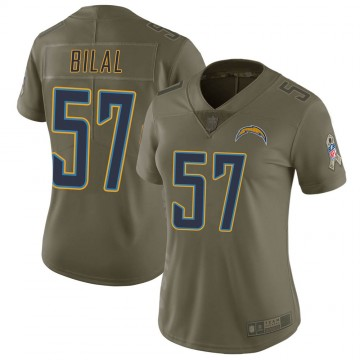Women's Nike Los Angeles Chargers Asmar Bilal Green 2017 Salute to Service Jersey - Limited