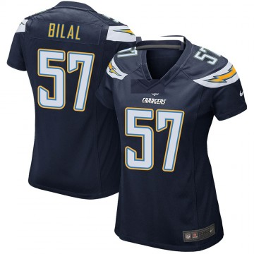 Women's Nike Los Angeles Chargers Asmar Bilal Navy Team Color Jersey - Game