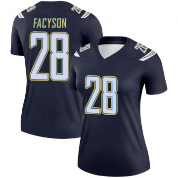 Women's Nike Los Angeles Chargers Brandon Facyson Navy Jersey - Legend