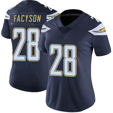 Women's Nike Los Angeles Chargers Brandon Facyson Navy Team Color Vapor Untouchable Jersey - Limited