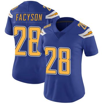 Women's Nike Los Angeles Chargers Brandon Facyson Royal Color Rush Vapor Untouchable Jersey - Limited