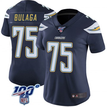 Women's Nike Los Angeles Chargers Bryan Bulaga Navy 100th Vapor Jersey - Limited