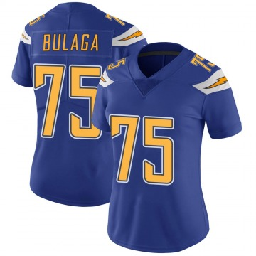 Women's Nike Los Angeles Chargers Bryan Bulaga Royal Color Rush Vapor Untouchable Jersey - Limited