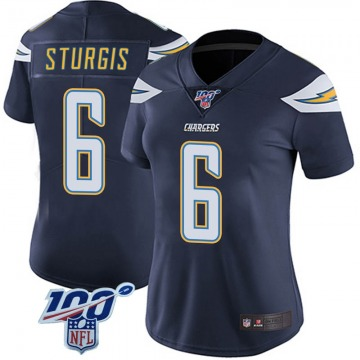 Women's Nike Los Angeles Chargers Caleb Sturgis Navy 100th Vapor Jersey - Limited