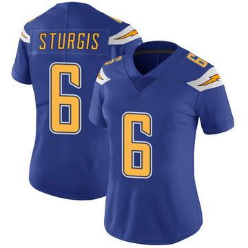 Women's Nike Los Angeles Chargers Caleb Sturgis Royal Color Rush Vapor Untouchable Jersey - Limited