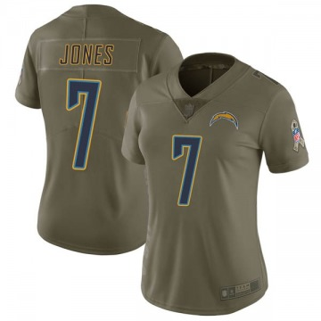 Women's Nike Los Angeles Chargers Cardale Jones Green 2017 Salute to Service Jersey - Limited