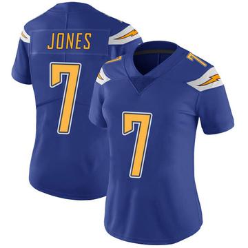 Women's Nike Los Angeles Chargers Cardale Jones Royal Color Rush Vapor Untouchable Jersey - Limited