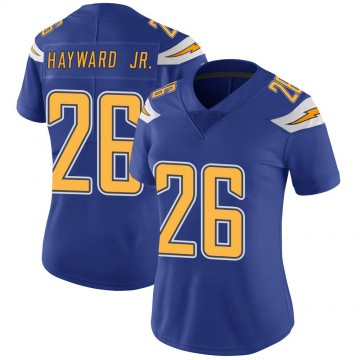 Women's Nike Los Angeles Chargers Casey Hayward Royal Color Rush Vapor Untouchable Jersey - Limited