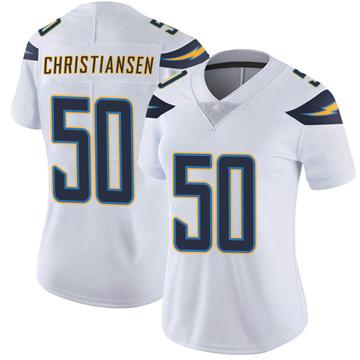 Women's Nike Los Angeles Chargers Cole Christiansen White Vapor Untouchable Jersey - Limited
