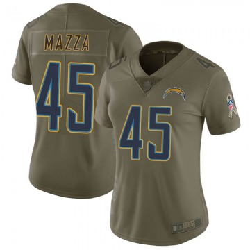 Women's Nike Los Angeles Chargers Cole Mazza Green 2017 Salute to Service Jersey - Limited
