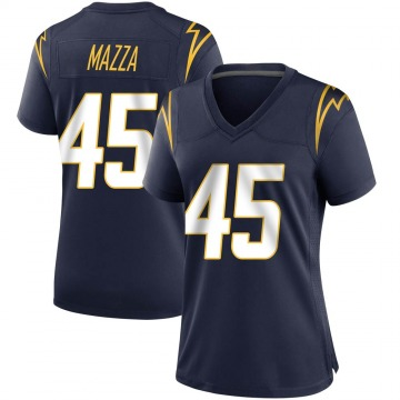 Women's Nike Los Angeles Chargers Cole Mazza Navy Team Color Jersey - Game