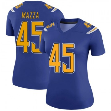 Women's Nike Los Angeles Chargers Cole Mazza Royal Color Rush Jersey - Legend