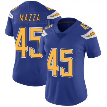 Women's Nike Los Angeles Chargers Cole Mazza Royal Color Rush Vapor Untouchable Jersey - Limited