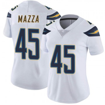 Women's Nike Los Angeles Chargers Cole Mazza White Vapor Untouchable Jersey - Limited