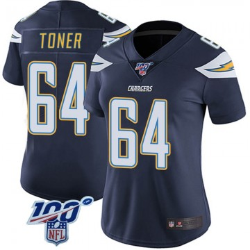 Women's Nike Los Angeles Chargers Cole Toner Navy 100th Vapor Jersey - Limited