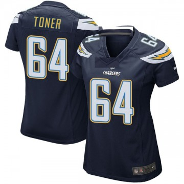 Women's Nike Los Angeles Chargers Cole Toner Navy Team Color Jersey - Game