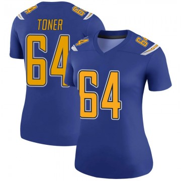 Women's Nike Los Angeles Chargers Cole Toner Royal Color Rush Jersey - Legend