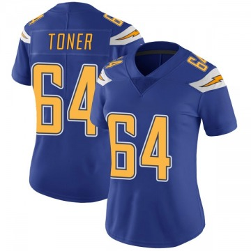 Women's Nike Los Angeles Chargers Cole Toner Royal Color Rush Vapor Untouchable Jersey - Limited