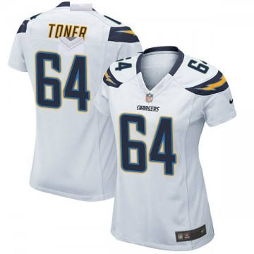 Women's Nike Los Angeles Chargers Cole Toner White Jersey - Game