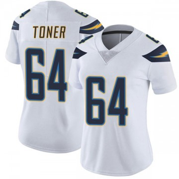 Women's Nike Los Angeles Chargers Cole Toner White Vapor Untouchable Jersey - Limited