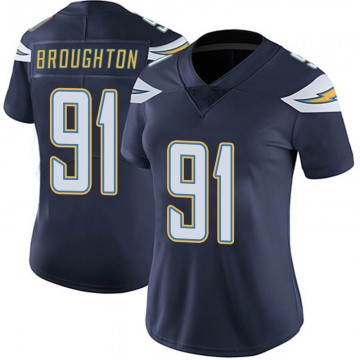 Women's Nike Los Angeles Chargers Cortez Broughton Navy Team Color Vapor Untouchable Jersey - Limited