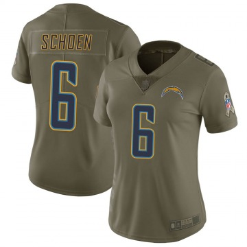 Women's Nike Los Angeles Chargers Dalton Schoen Green 2017 Salute to Service Jersey - Limited