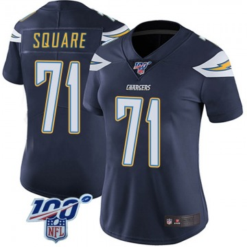 Women's Nike Los Angeles Chargers Damion Square Navy 100th Vapor Jersey - Limited