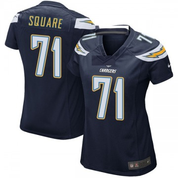 Women's Nike Los Angeles Chargers Damion Square Navy Team Color Jersey - Game