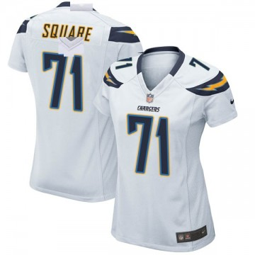 Women's Nike Los Angeles Chargers Damion Square White Jersey - Game