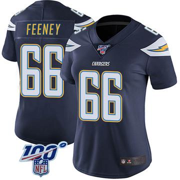 Women's Nike Los Angeles Chargers Dan Feeney Navy 100th Vapor Jersey - Limited