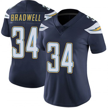 Women's Nike Los Angeles Chargers Darius Bradwell Navy Team Color Vapor Untouchable Jersey - Limited