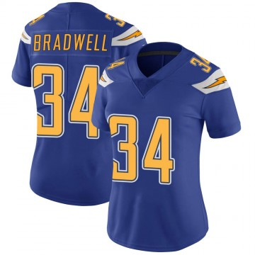 Women's Nike Los Angeles Chargers Darius Bradwell Royal Color Rush Vapor Untouchable Jersey - Limited